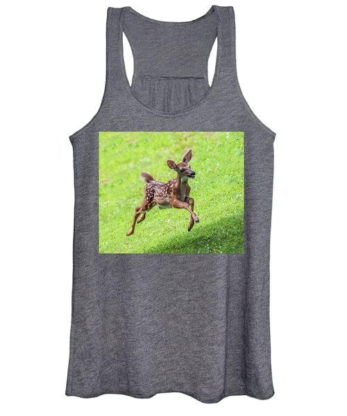 Running And Jumping Women's Tank Top