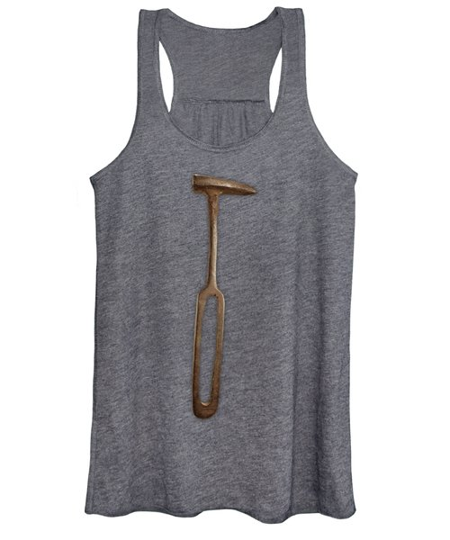 Rustic Hammer On Black Women's Tank Top