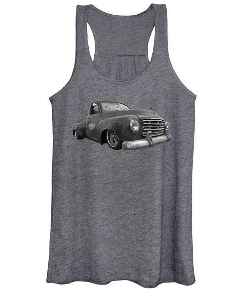 Rusty Studebaker In Black And White Women's Tank Top