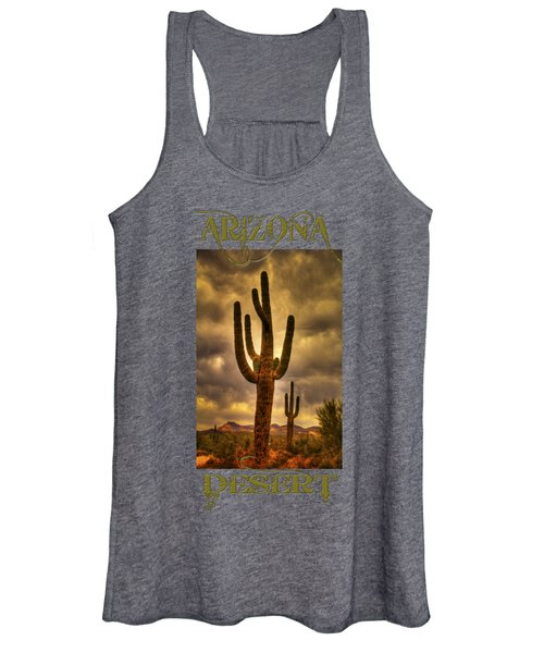 Saguaros On The Sonoran Late Afternoon Women's Tank Top
