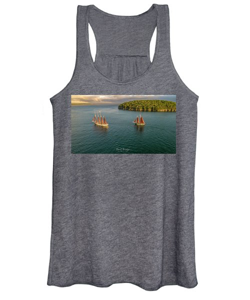 Sailing Frenchman Bay Women's Tank Top