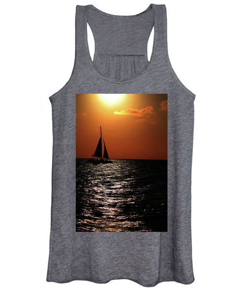 Sailing Into The Sunset Women's Tank Top