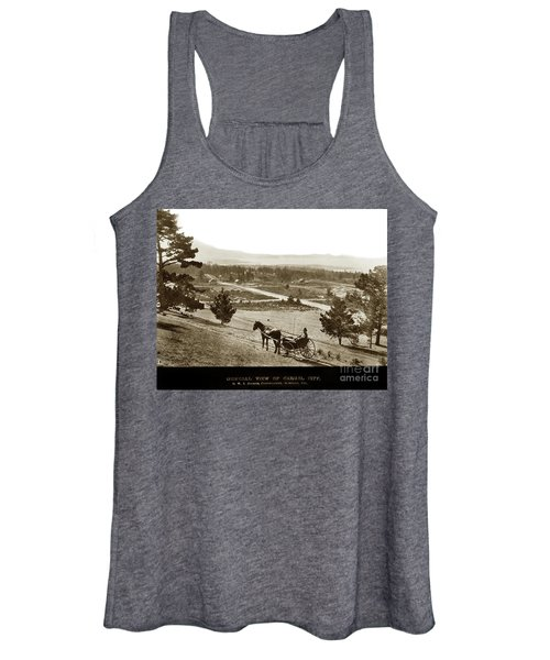 Samuel J. Duckworth Pauses To Look Upon What Would Become Carmel 1890 Women's Tank Top
