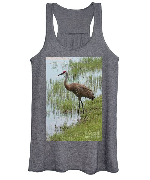 Sandhill In The Marsh Women's Tank Top