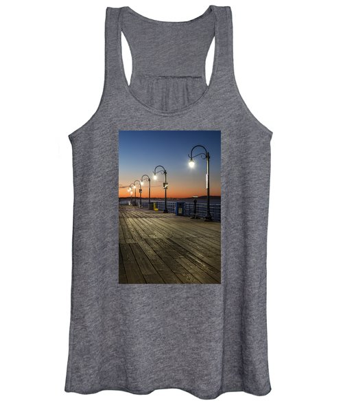 Santa Monica Pier Lights Women's Tank Top