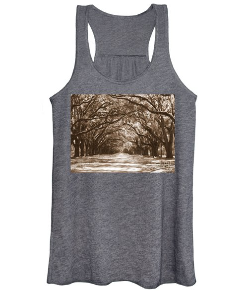 Savannah Sepia - Glorious Oaks Women's Tank Top