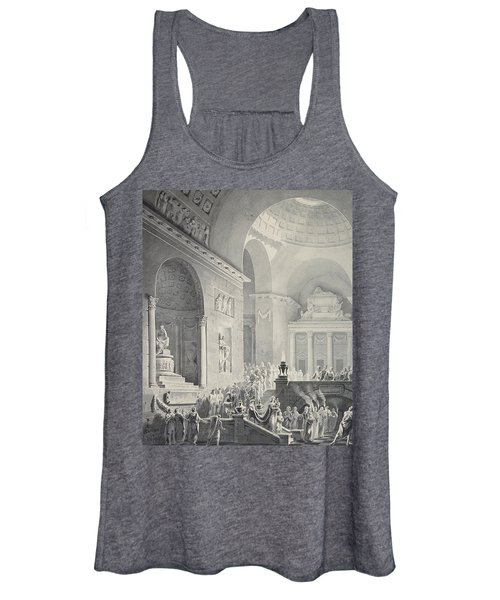 Scene In A Classical Temple  Funeral Procession Of A Warrior Women's Tank Top