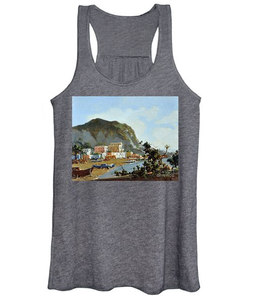 Sea And Mountain With Boats Women's Tank Top