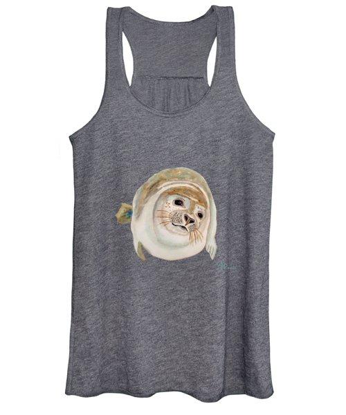 Sea Lion Watercolor Women's Tank Top