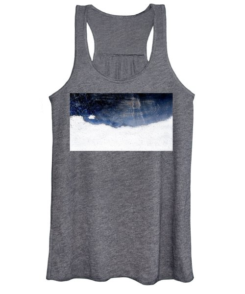 Sea, Satellite - Coast Line On Blue Ocean Illusion Women's Tank Top