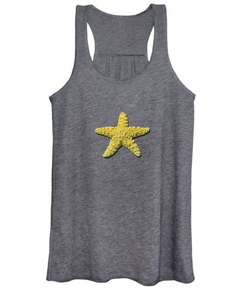 Sea Star Yellow .png Women's Tank Top