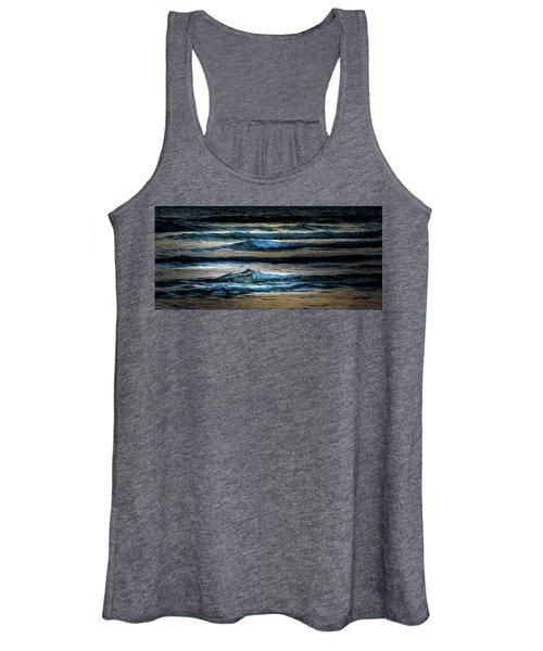 Sea Waves After Sunset Women's Tank Top