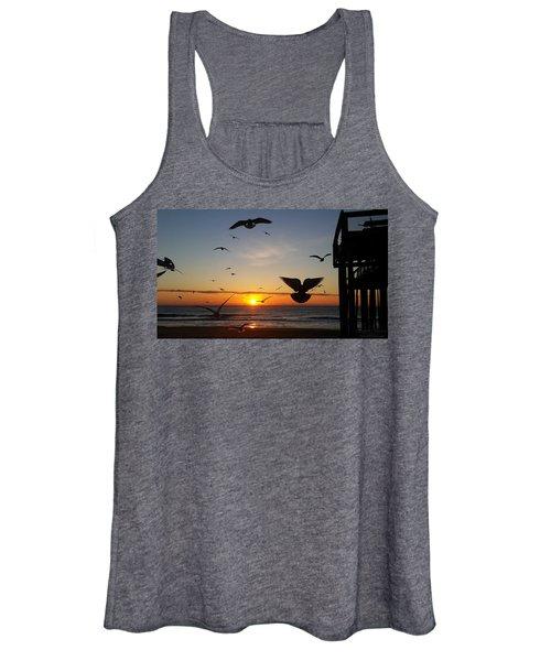Seagulls At Sunrise Women's Tank Top