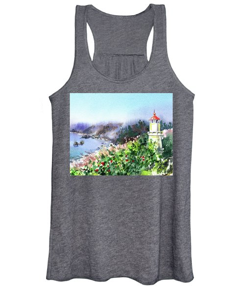 Seascape With Lighthouse Women's Tank Top