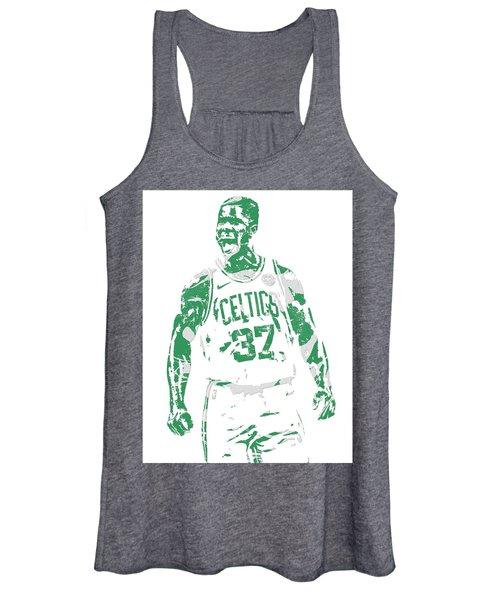 Semi Ojeleye Boston Celtics Pixel Art 1 Women's Tank Top