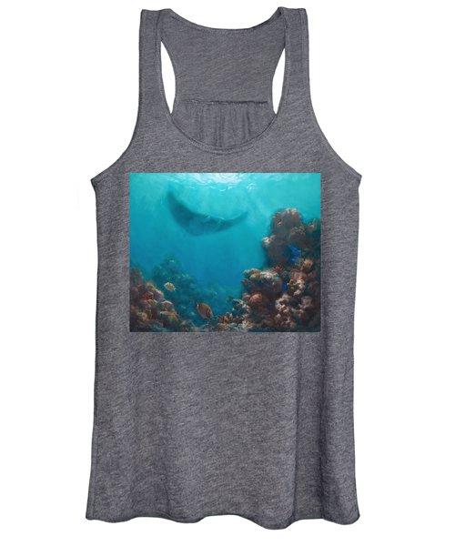 Serenity - Hawaiian Underwater Reef And Manta Ray Women's Tank Top