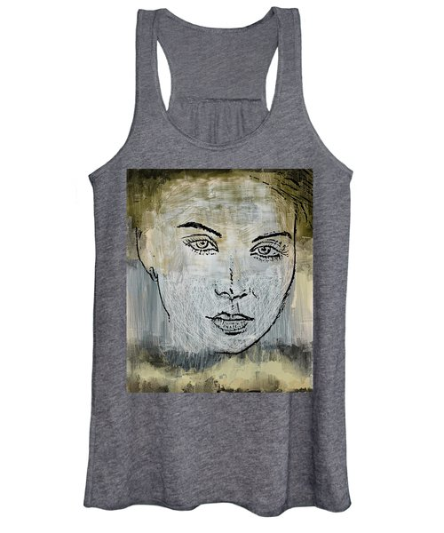Shades Of Grey And Beige Women's Tank Top