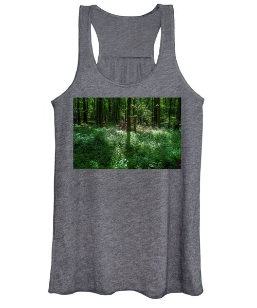 Shadow And Light In A Forest Women's Tank Top