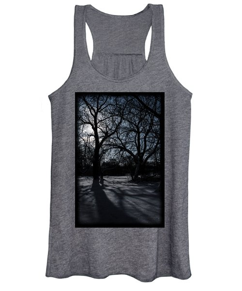 Shadows In January Snow Women's Tank Top
