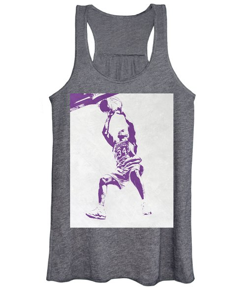Shaquille O'neal Los Angeles Lakers Pixel Art Women's Tank Top