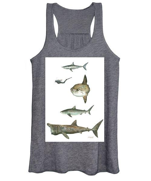 Sharks And Mola Mola Women's Tank Top
