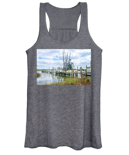 Shrimp Boats Of St. Helena Island Women's Tank Top