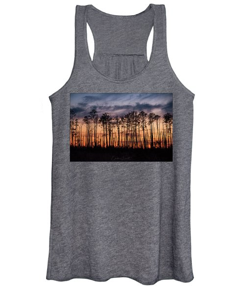 Silhouetted Sunset Women's Tank Top