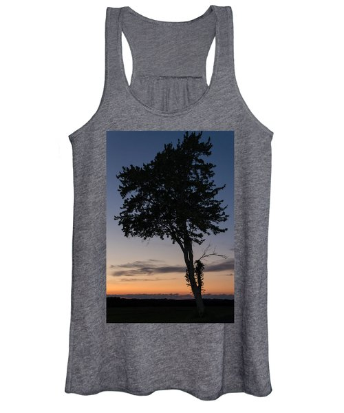 Silhouetted Tree Women's Tank Top