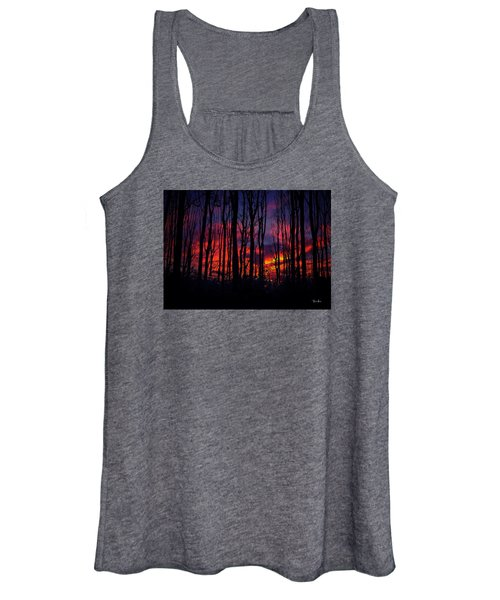 Silhouettes At Sunset Women's Tank Top