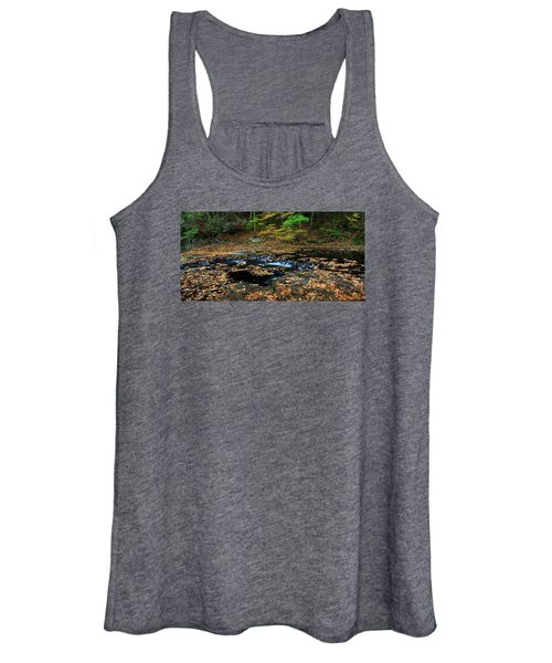 Silky New England Stream In Autum Women's Tank Top