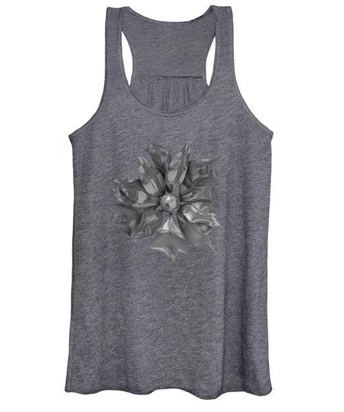 Silver Flower Women's Tank Top