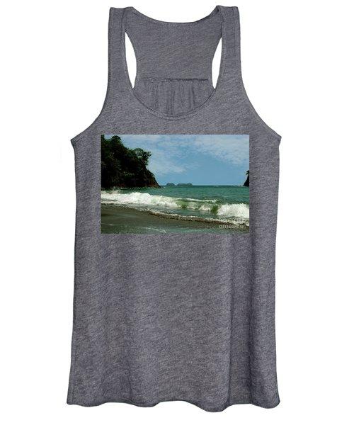 Simple Costa Rica Beach Women's Tank Top