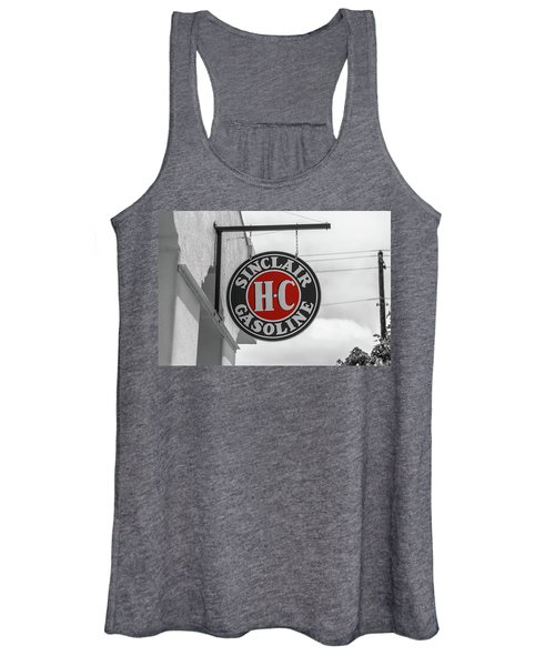 Sinclair Gasoline Round Sign In Selective Color Women's Tank Top