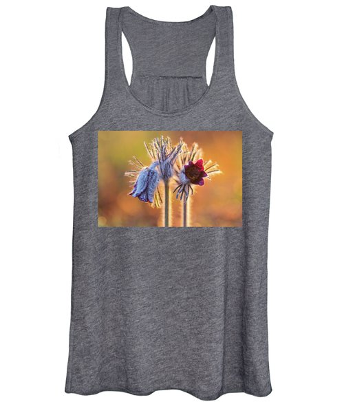 Small Pasque Flower, Pulsatilla Pratensis Nigricans Women's Tank Top