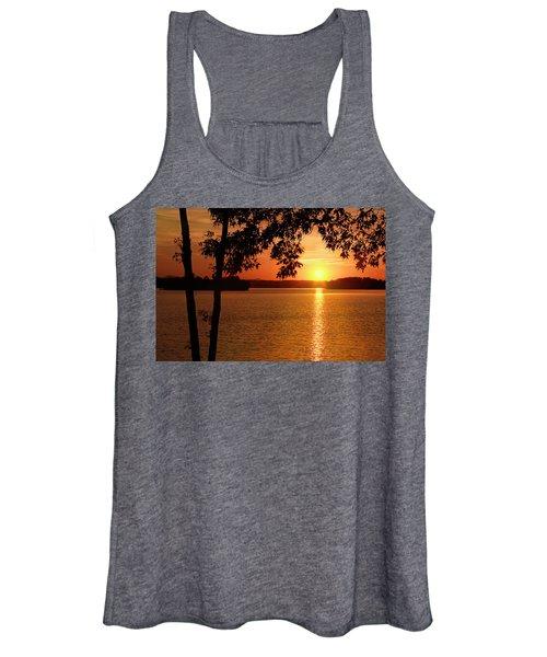 Smith Mountain Lake Silhouette Sunset Women's Tank Top