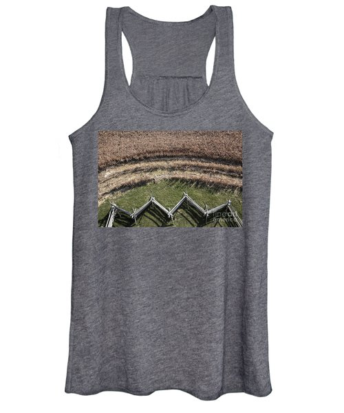 Snake-rail Fence And Cornfield Women's Tank Top