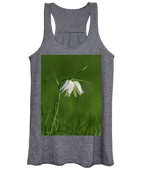 Snake's Head With Two White Bells Women's Tank Top