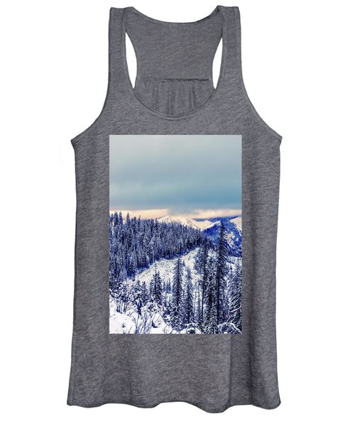 Snow Covered Mountains Women's Tank Top