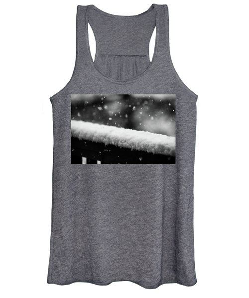 Snowfall On The Handrail Women's Tank Top