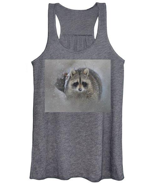 Snowy Raccoon Women's Tank Top