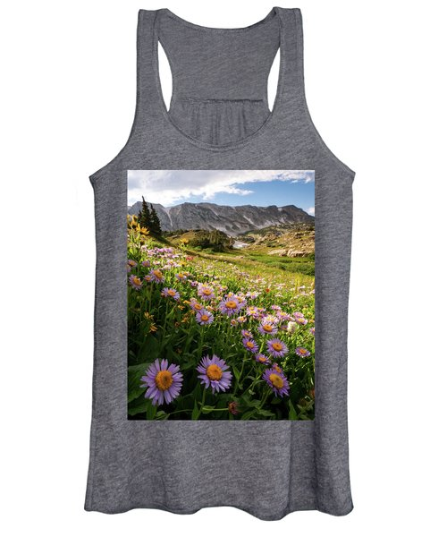 Snowy Range Flowers Women's Tank Top