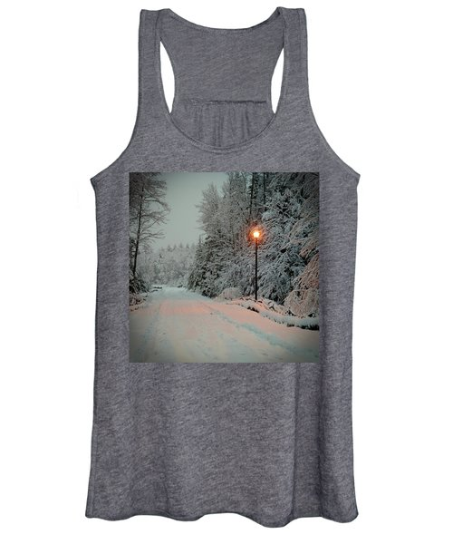 Snowy Road Women's Tank Top
