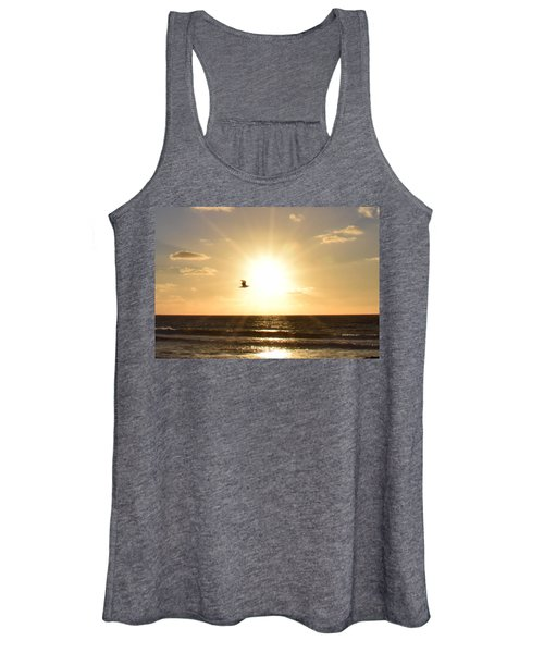 Soaring Seagull Sunset Over Imperial Beach Women's Tank Top