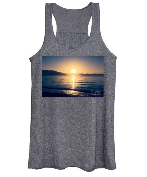 Soft Sunset Lake Women's Tank Top