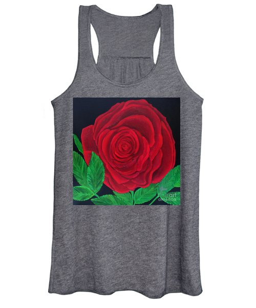 Solitary Red Rose Women's Tank Top