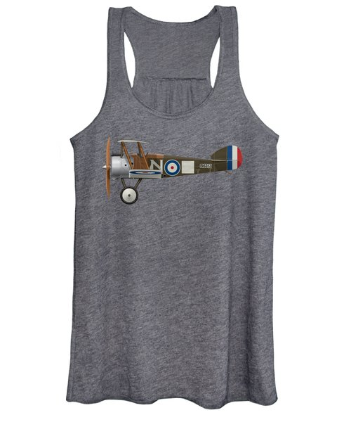 Sopwith Camel - B6313 March 1918 - Side Profile View Women's Tank Top