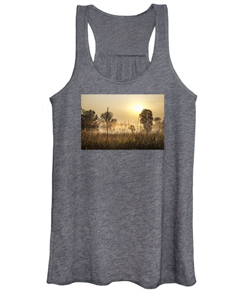 Southern Michigan Foggy Morning  Women's Tank Top