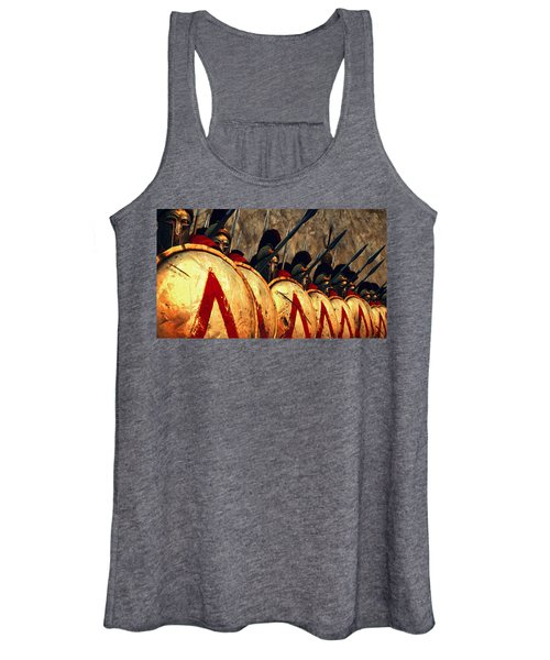 Spartan Army - Wall Of Spears Women's Tank Top