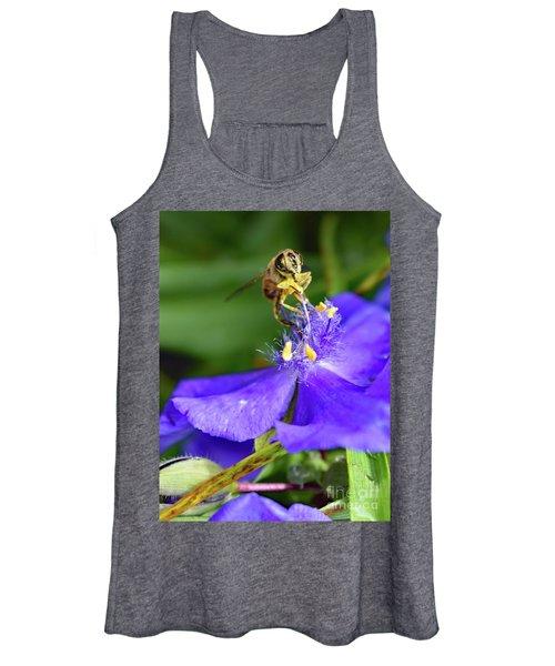Spiderwort And The Bee Women's Tank Top