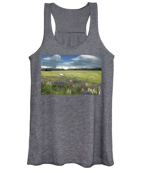 Spirit Pony In High Country Lupine Field Women's Tank Top